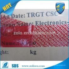 Hot novas importações impressas impressas personalizadas fita vazada aberta fita de transferência total e parcial para vedação