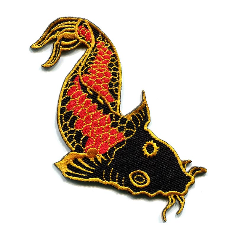 Japanese Koi Carp Fish Tattoo Embroidered Patch