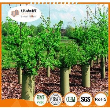 O protetor plástico acanelado da árvore / plástico protege a tubulação