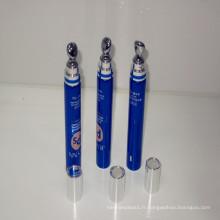 Le meilleur tube cosmétique en plastique de vente avec l'applicateur en alliage de zinc