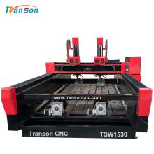 Máquina de enrutador CNC de piedra giratoria doble de doble husillo