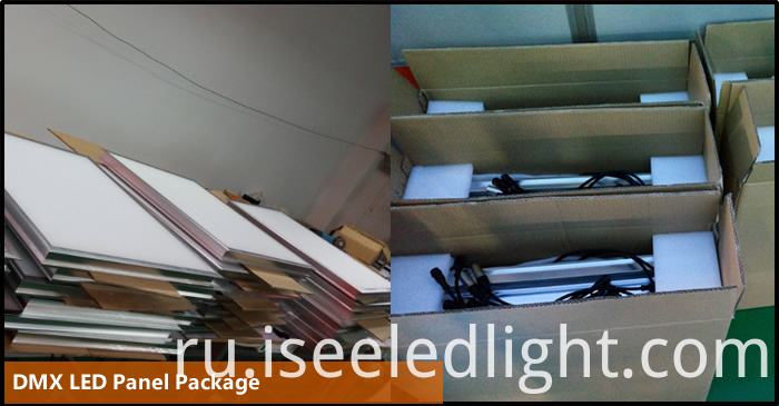 package of the dmx led panel light