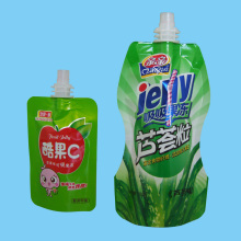 Standing Liquid Pouch with Spout, Plastic Stand-up Spout Pouch