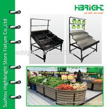 wooden fruit vegetable storage rack