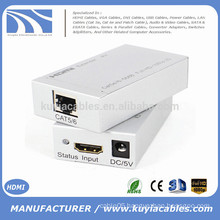 Single HDMI Extender RJ45 CAT5/6 Converter adapter Full 1080P 3D