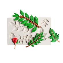 Branch Flower Vine Rose Flower Leaf Silicone Mold Fondant Chocolate Mold Baking Cake Decoration DIY