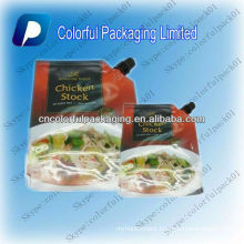 250ml,500ml, stand up spout aluminum juice meat soup packaging bags