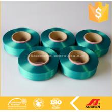 Série colorida de fios de spandex verde