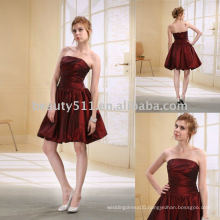 Astergarden Taffeta Knee Length Whole Sale Short Bridesmaid Dress D0007