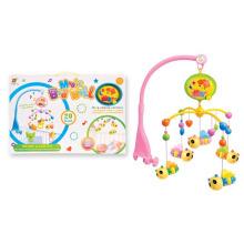 Jouet de bébé en plastique électrique Bell Belle lit rotatif
