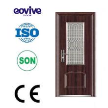 Porta de vidro oval aço de design clássico de decoração de interiores de porta de aço
