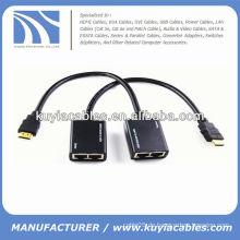 HDMI Extender von Cat5e / Cat6 Kabel (HDMI ver 1.3 unterstützt) bis zu 30m / 100ft