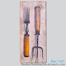 Simple suject original wood craft abstract oil painting