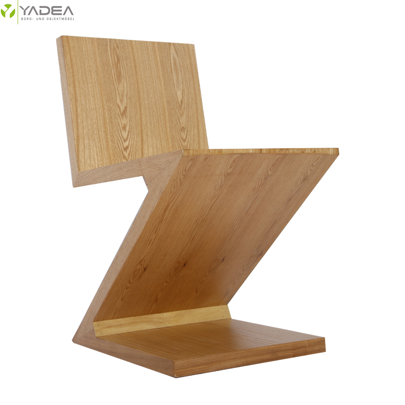 wooden zig zag chair