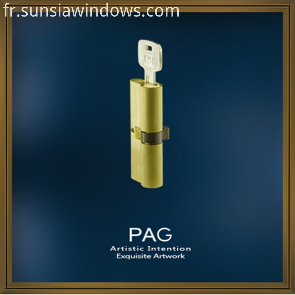 Double Side Key and Pure Brass Lock Cylinder European Standard Groove Security Lock Cylinder