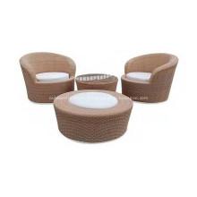 Beau canapé confortable chaise de PE extérieur en osier