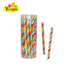 Colored Rainbow Long Stick Lollipop Sweet