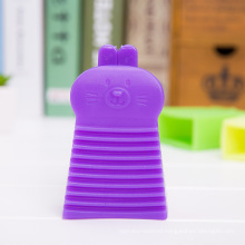 Candy Colors Rabbit Design Mini PVC Handheld Washboard