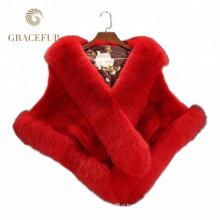 Luxury High Quality mink fur fashion shawl