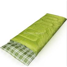 Gros sac de couchage en coton vert, sacs de couchage pour adultes