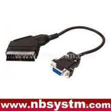 Enchufe Scart al cable VGA de 15pin 30cm
