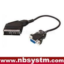 Conector Scart para cabo VGA de 15 pinos 30cm