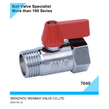 Male Threaded Brass Plating Ball Valve with Butterfly Handle