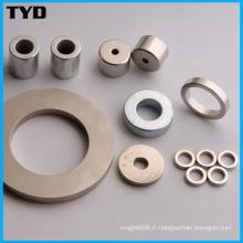 Ni-Cu-Ni Revêtement N50 Strong NdFeB Ring Permanent Magnet