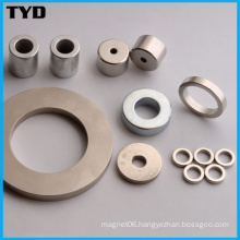 Ni-Cu-Ni Coating N50 Strong NdFeB Ring Permanent Magnet