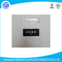 Hersteller Custom PVC Zipper Tasche Kunststoff Zipper Tasche