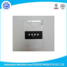 Fabricante Personalizado PVC Zipper Bag Plástico Ziplock Bag
