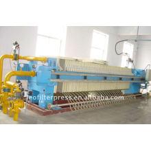 Prensa de filtro de membrana hidráulica automática para la industria especial del azúcar