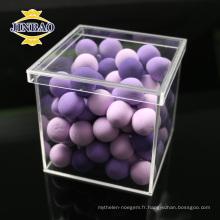 Boîte de rangement d'affichage acrylique clair et coloré de haute qualité sur mesure avec couvercle