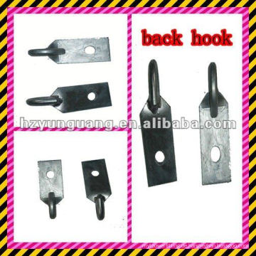 Flachstahlhaken / Parallellenker / Haken hinten / Elektroanschluss für Stromleitungen / Baubeschläge