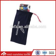 Logotipo impreso microfibra cordón bolsa de teléfono celular, bolsa de microfibra personalizada cordón de teléfono celular