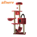 Aiberry High Quality Wooden Scratch Climbing Tower Fashion Diy Deluxe Foldable Luxury Sisal Pet Products Cat Tree Wood House