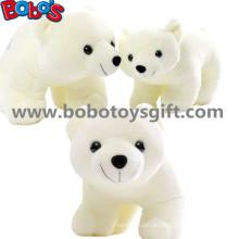 ASTM genehmigt kuschelig gefüllte weiße Farbe Eisbär Tier weich Spielzeug