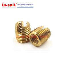 M6 Brass Self Tapping Thread Insert Partilhada para Plásticos