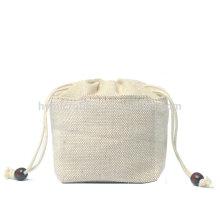 Factory cheap high quality jute drawstring bag