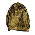 Fashion set bling bling bronzing printing hat and scarf
