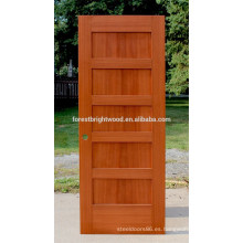 Stile and Rail - Puerta de coctelera para puerta, roble, madera, 5 paneles