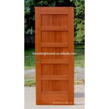 Stile e trilho 5 painel porta de madeira de carvalho porta do abanador