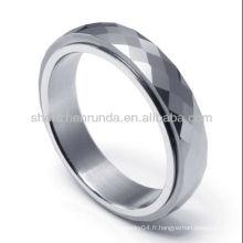 Vente en gros bijoux à la mode superman tungstène hommes anneau porcelaine fournisseur