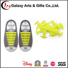 Silicona plana elástica sin cordones Diseño de cordones para cerradura Super fácil de limpiar Cordones de zapatos