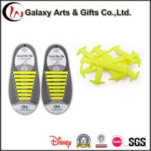 Silicone elástico liso nenhum projeto dos laços de laço para o fechamento super fácil limpar laços de sapata