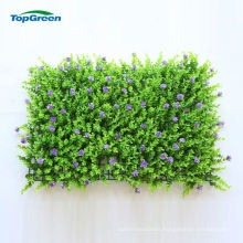 Eco-Friendly Artificial Grass And Flowers Wall For Garden Landscaping