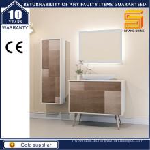 Moderne MDF White Floor Standing Badezimmer Schrank