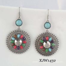 Art- und Weiseohrring- / Edelstein-Ohrring / böhmischer Ohrring (XJW1432)