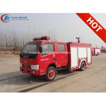 2019 Nuevo Dongfeng doble cabina 2500 litros camión de bomberos