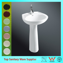 art ceramic pedestal sink basin